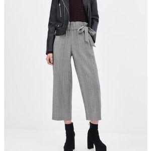 Zara Ted wise leg plaid pants